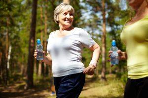 Elderly lady exercising
