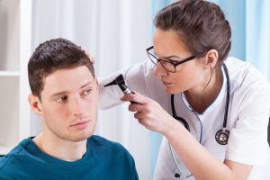 Dr looking for ear infection