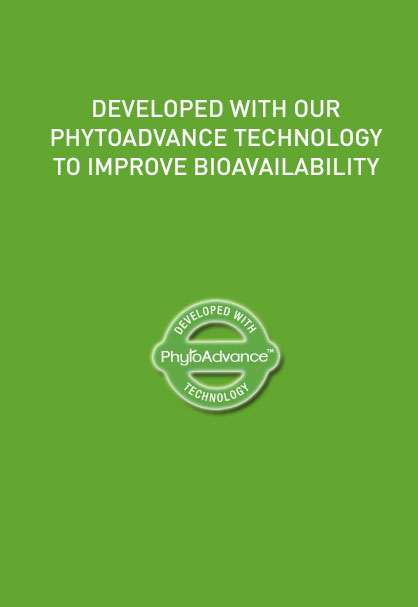 DEVELOPED WITH OUR PHYTOADVANCE TECHNOLOGY TO IMPROVE BIOAVAILABITY